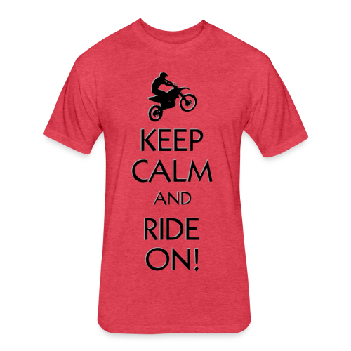 Motocross Keep Calm - Fitted Cotton/Poly T-Shirt by Next Level