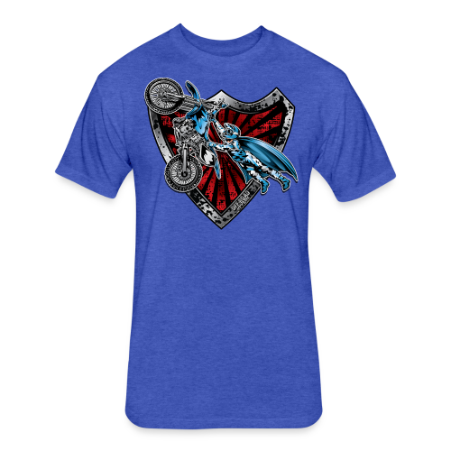 Superman Motocross Yamaha - Fitted Cotton/Poly T-Shirt by Next Level