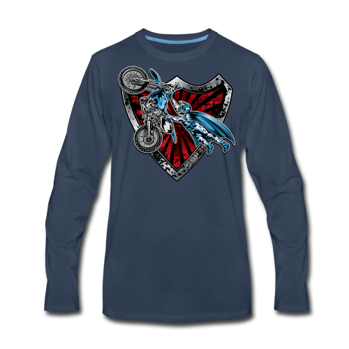 Superman Motocross Yamaha - Men's Premium Long Sleeve T-Shirt