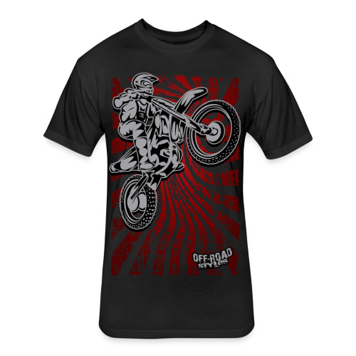Japanse Motocross - Fitted Cotton/Poly T-Shirt by Next Level
