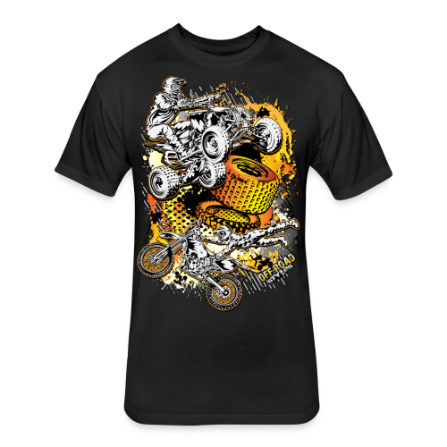 Motocross Mesh - Fitted Cotton/Poly T-Shirt by Next Level