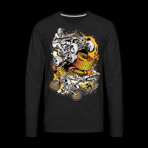 Motocross Mesh - Men's Premium Long Sleeve T-Shirt