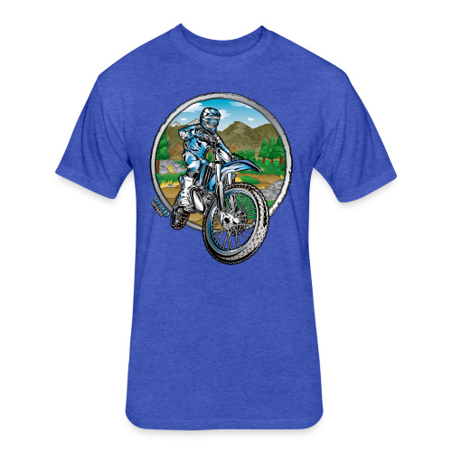 Motocross County Yamaha - Fitted Cotton/Poly T-Shirt by Next Level