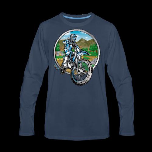 Motocross County Yamaha - Men's Premium Long Sleeve T-Shirt