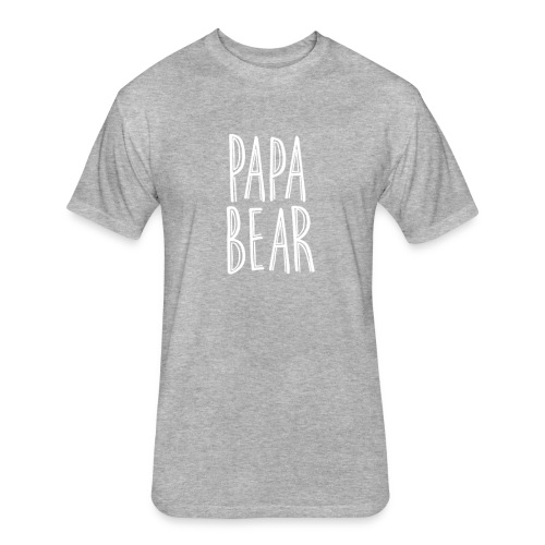 Papa Bear Tee - Fitted Cotton/Poly T-Shirt by Next Level