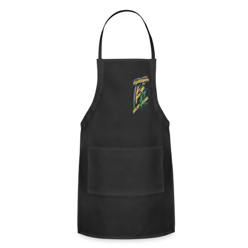 Hoodie with abstract courthouse - Adjustable Apron