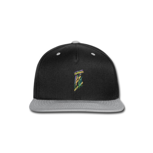 Hoodie with abstract courthouse - Snap-back Baseball Cap