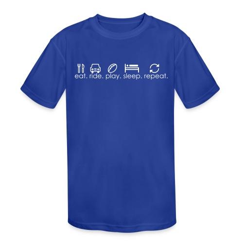 Football Sports Life - Little Kid - Kid's Moisture Wicking Performance T-Shirt