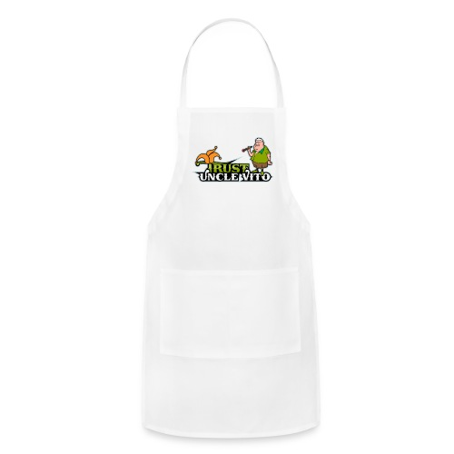 TRUST UNCLE VITO! WHITE WITH BLACK RINGER T-SHIRTS - Adjustable Apron