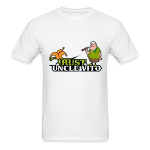 TRUST UNCLE VITO! WHITE WITH BLACK RINGER T-SHIRTS - Men's T-Shirt