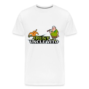TRUST UNCLE VITO! WHITE WITH BLACK RINGER T-SHIRTS - Men's Premium T-Shirt