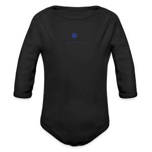 Baby Short Sleeve One Piece (full logo) - Long Sleeve Baby Bodysuit