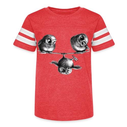 three owls - freedom & fun - Kid's Vintage Sport T-Shirt