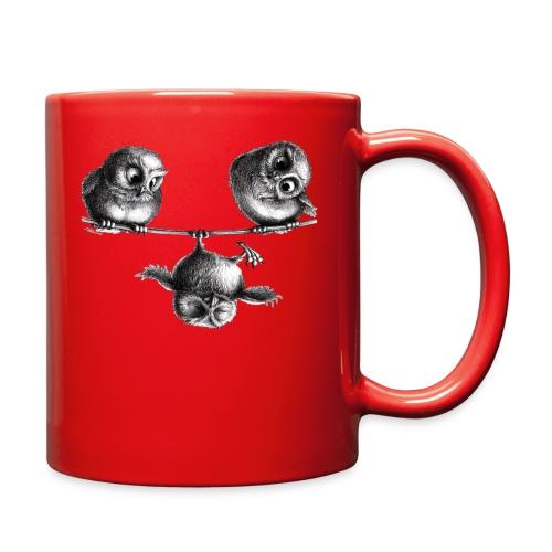 three owls - freedom & fun - Full Color Mug