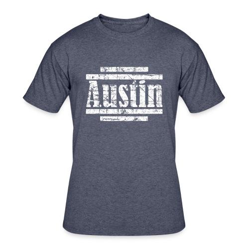 Austin T-Shirt (Men Navy/White) Vintage - Men's 50/50 T-Shirt