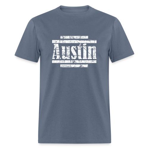 Austin T-Shirt (Men Navy/White) Vintage - Men's T-Shirt
