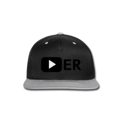 Youtuber Play-Button T-Shirt - Snap-back Baseball Cap