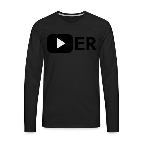 Youtuber Play-Button T-Shirt - Men's Premium Long Sleeve T-Shirt