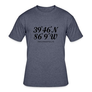 Indianapolis Coordinates T-Shirt (Women/Navy) - Men's 50/50 T-Shirt