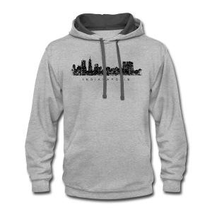 Indianapolis Skyline T-Shirt (Men/Gray) - Contrast Hoodie