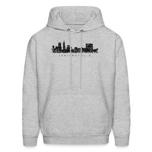 Indianapolis Skyline T-Shirt (Men/Gray) - Men's Hoodie