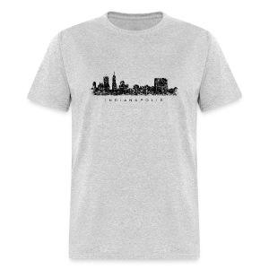 Indianapolis Skyline T-Shirt (Men/Gray) - Men's T-Shirt