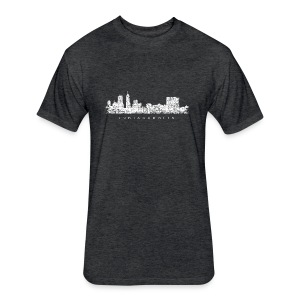 Indianapolis Skyline T-Shirt (Children/Green) - Fitted Cotton/Poly T-Shirt by Next Level