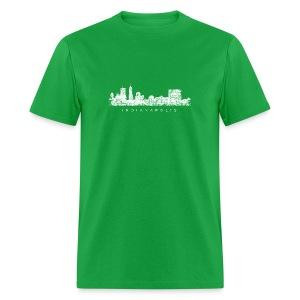 Indianapolis Skyline T-Shirt (Children/Green) - Men's T-Shirt