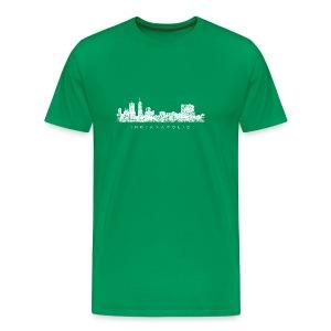 Indianapolis Skyline T-Shirt (Children/Green) - Men's Premium T-Shirt