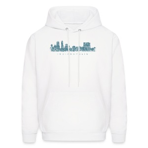 Indianapolis Skyline T-Shirt (Men/White) - Men's Hoodie