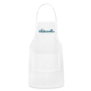 Indianapolis Skyline T-Shirt (Men/White) - Adjustable Apron
