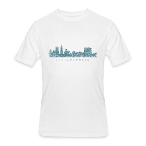 Indianapolis Skyline T-Shirt (Men/White) - Men's 50/50 T-Shirt