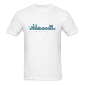 Indianapolis Skyline T-Shirt (Men/White) - Men's T-Shirt