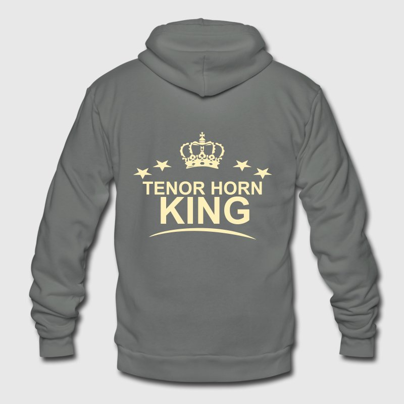 Tenor Horn King,  - Unisex Fleece Zip Hoodie by American Apparel