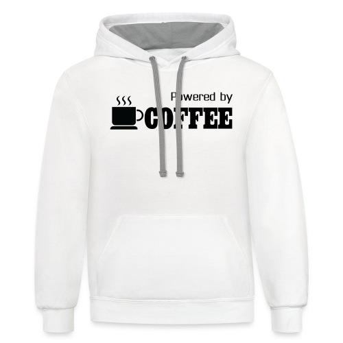 Powered by Coffee [Woman] - Contrast Hoodie