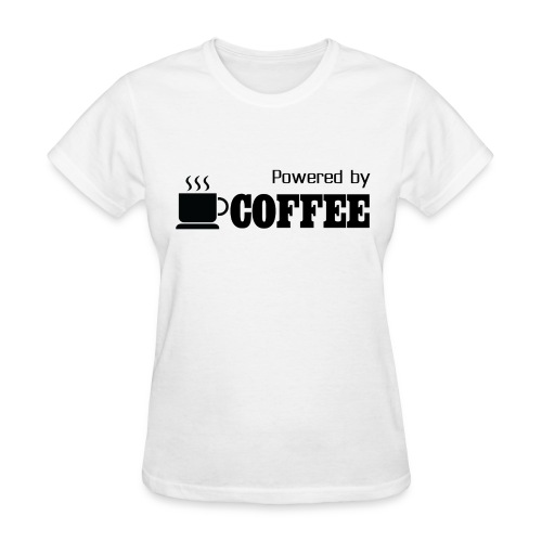 Powered by Coffee [Woman] - Women's T-Shirt