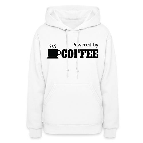 Powered by Coffee [Woman] - Women's Hoodie