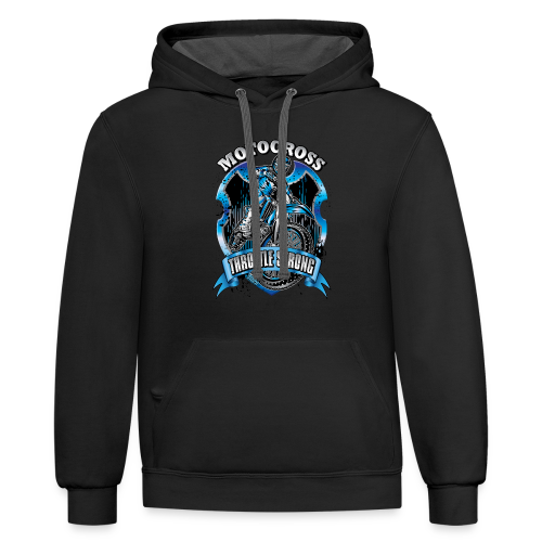 Motocross Throttle Strong - Contrast Hoodie