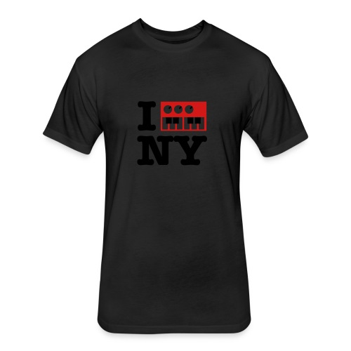 I Synthesize New York - Fitted Cotton/Poly T-Shirt by Next Level