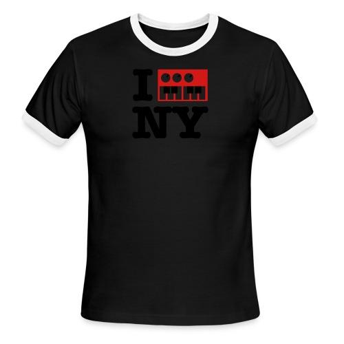 I Synthesize New York - Men's Ringer T-Shirt