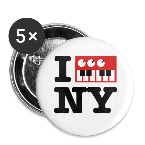 I Synthesize New York - Buttons large 2.2'' (5-pack)