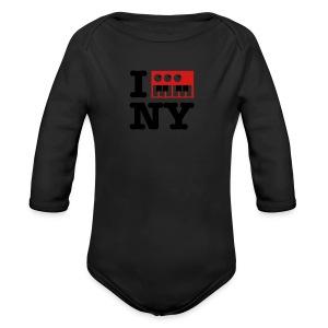 I Synthesize New York - Long Sleeve Baby Bodysuit