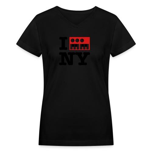 I Synthesize New York - Women's V-Neck T-Shirt