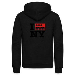 I Synthesize New York - Unisex Fleece Zip Hoodie by American Apparel