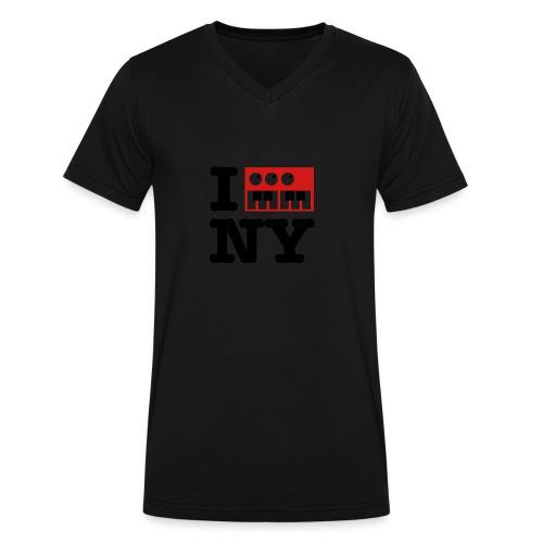 I Synthesize New York - Men's V-Neck T-Shirt by Canvas