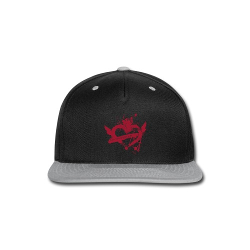 Broken Flying Splatter Heart - Snap-back Baseball Cap