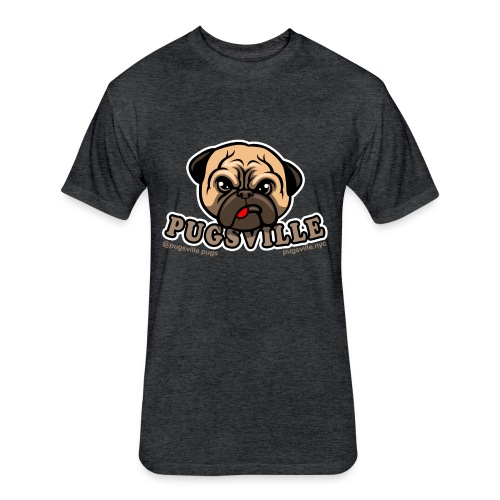 Pugsville Logo-T, Unisex Dark Gray - Fitted Cotton/Poly T-Shirt by Next Level