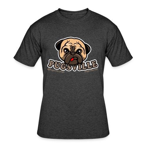 Pugsville Logo-T, Unisex Dark Gray - Men's 50/50 T-Shirt