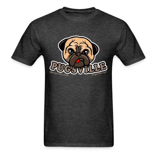 Pugsville Logo-T, Unisex Dark Gray - Men's T-Shirt