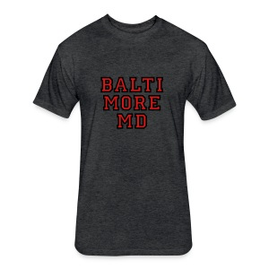 Baltimore MD Kid's T-Shirt College Style - Fitted Cotton/Poly T-Shirt by Next Level